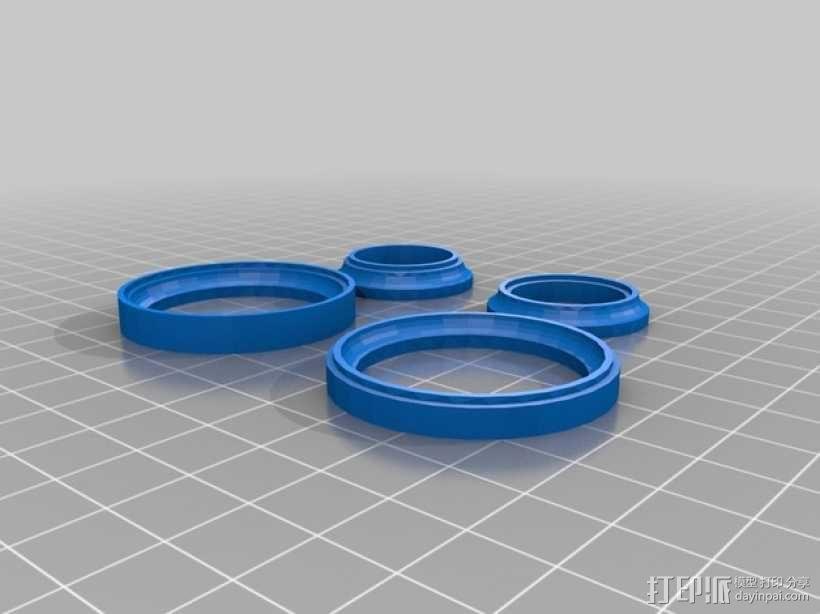 20mm x 40mm滚珠轴承  3D模型  图4
