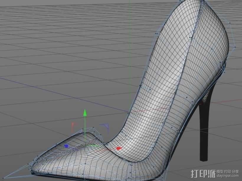 Pigalle高跟鞋 3D模型  图2