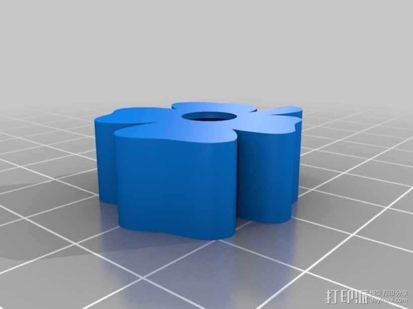 四叶草LED戒指 3D模型  图2