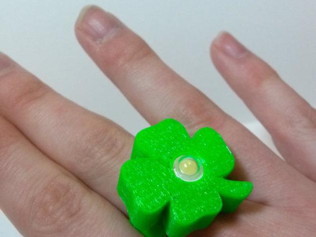 四叶草LED戒指 3D模型  图1
