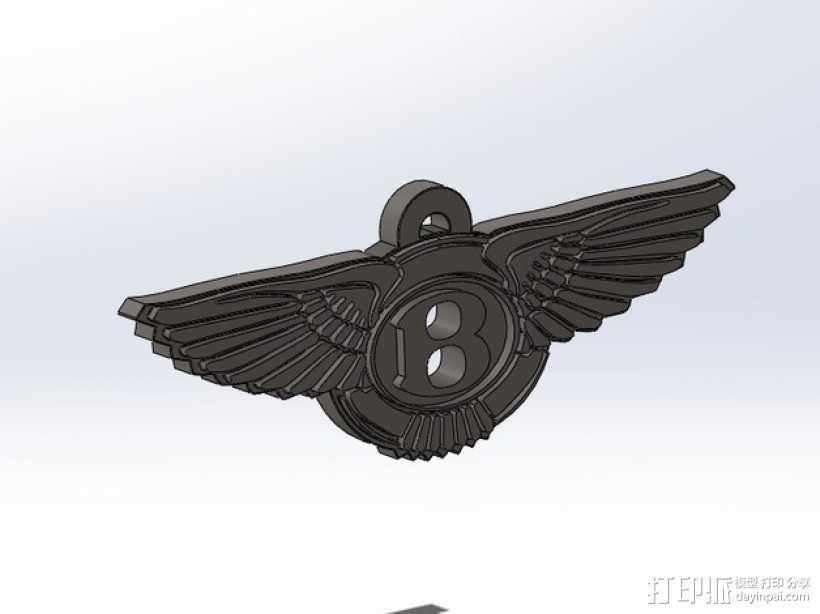 宾利汽车 钥匙扣 3D模型  图1
