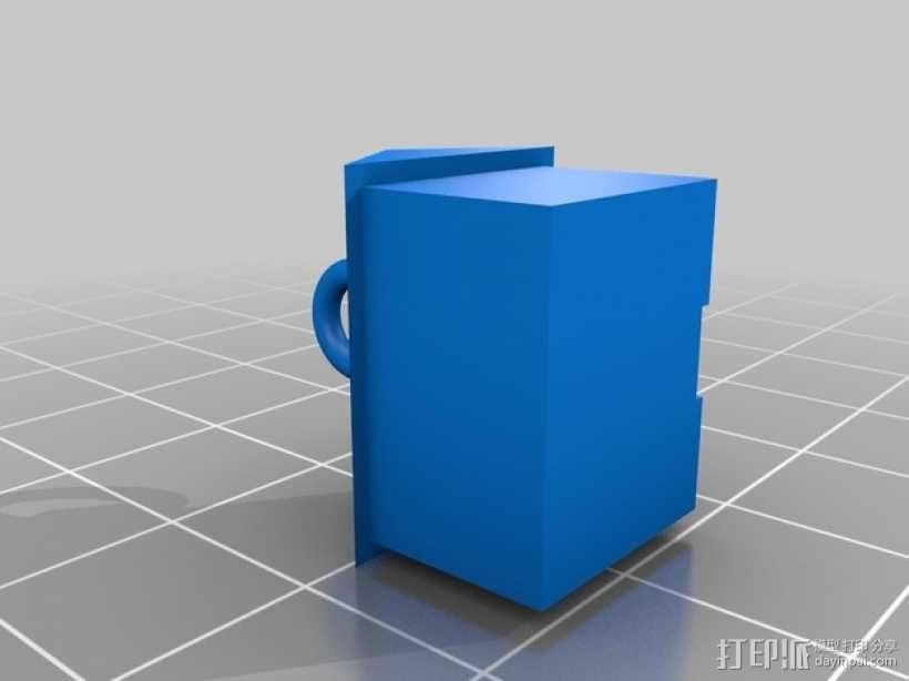 大富翁游戏 房子吊坠 3D模型  图2