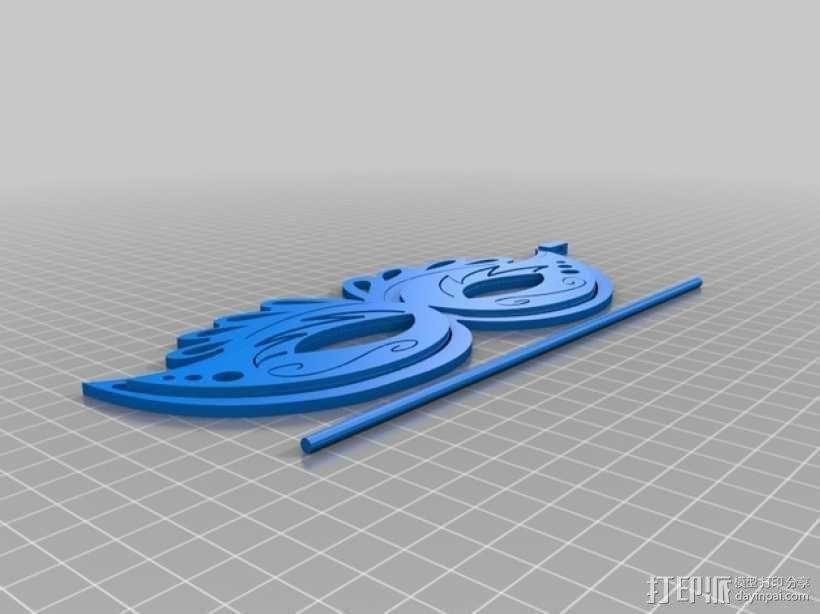 狂欢节面具 3D模型  图2