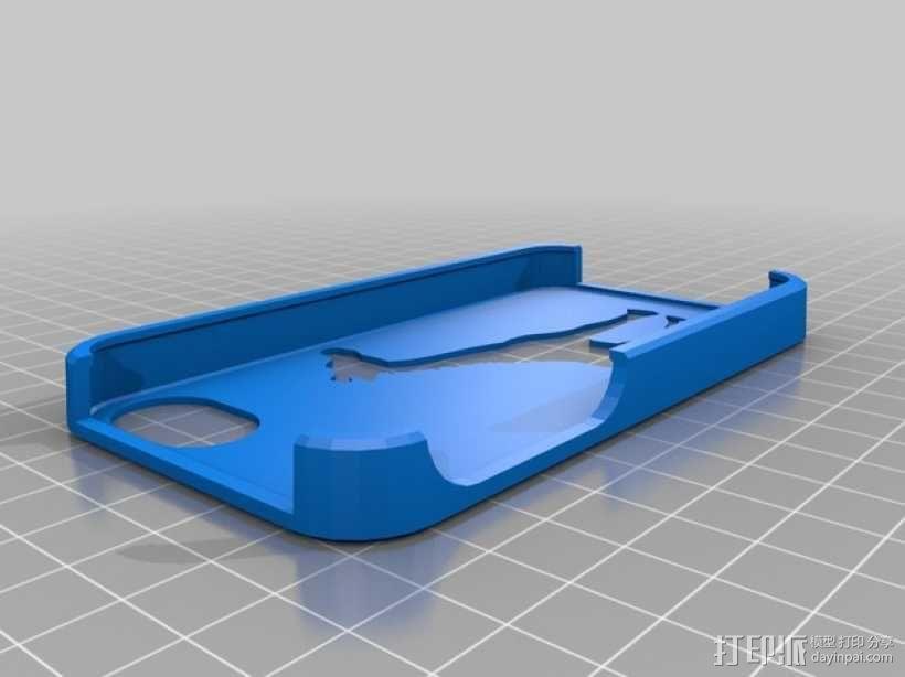 长颈鹿iPhone 4s手机保护壳 3D模型  图1