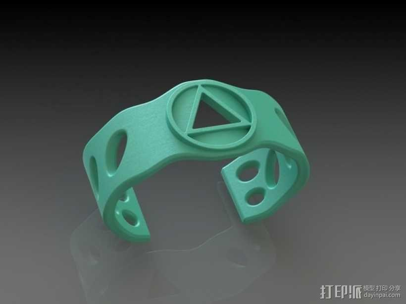 DesignerFreds手镯 3D模型  图1