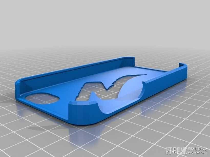 自行车标志iPhone4s手机外壳 3D模型  图1