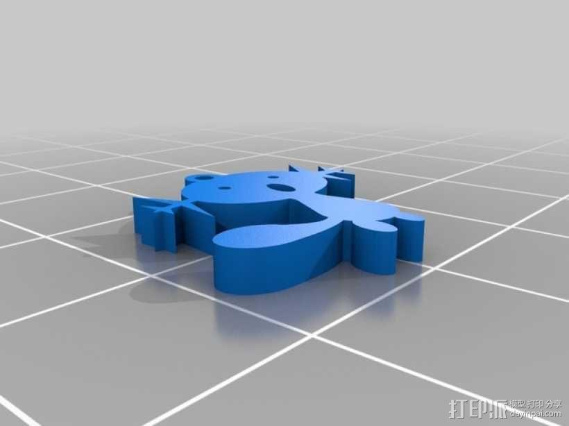Wooper耳坠 3D模型  图2