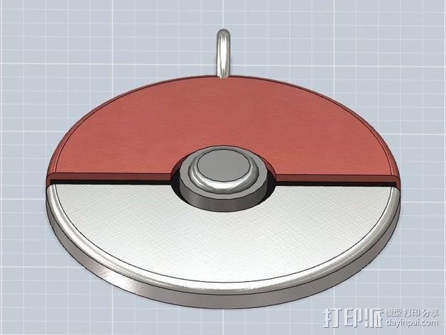 精灵球 挂件 3D模型  图3