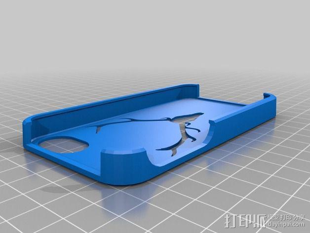驯鹿角Iphone 4手机保护套 3D模型  图1