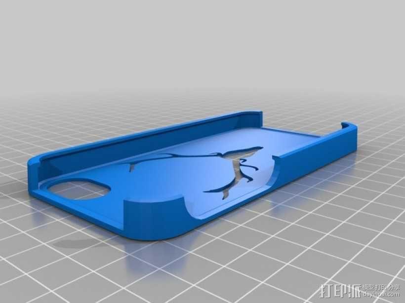 驯鹿角Iphone5手机保护套 3D模型  图1