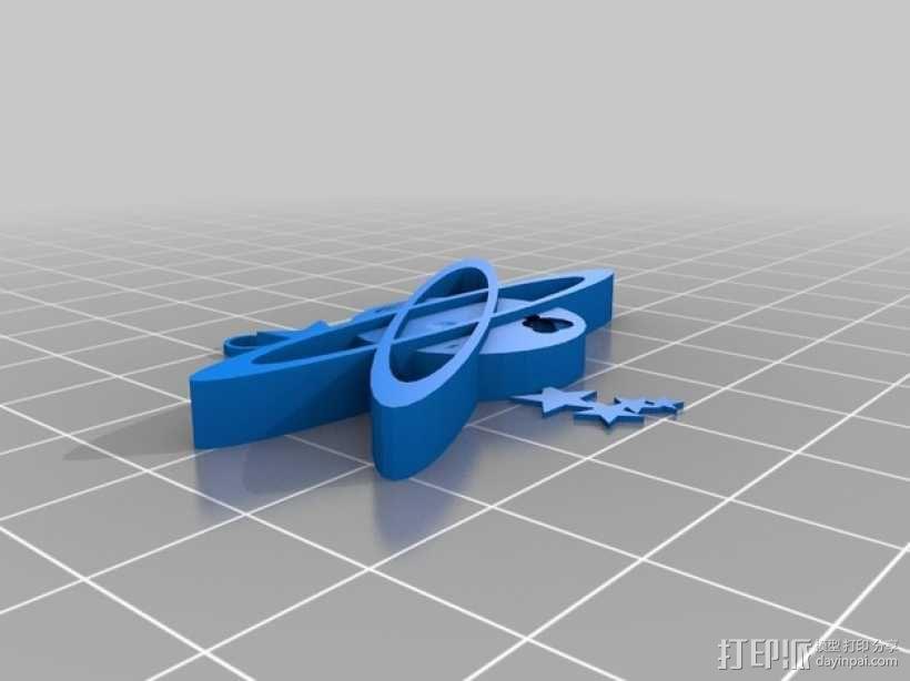 卡通星球 挂件 3D模型  图1