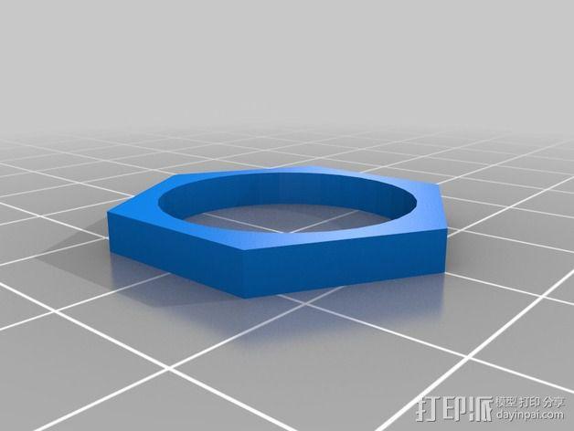 六边形戒指 3D模型  图4