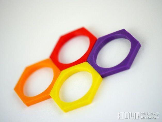六边形戒指 3D模型  图5