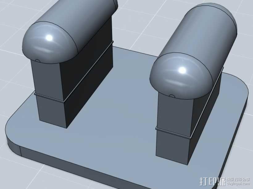 Fit Bit腕带夹 3D模型  图1