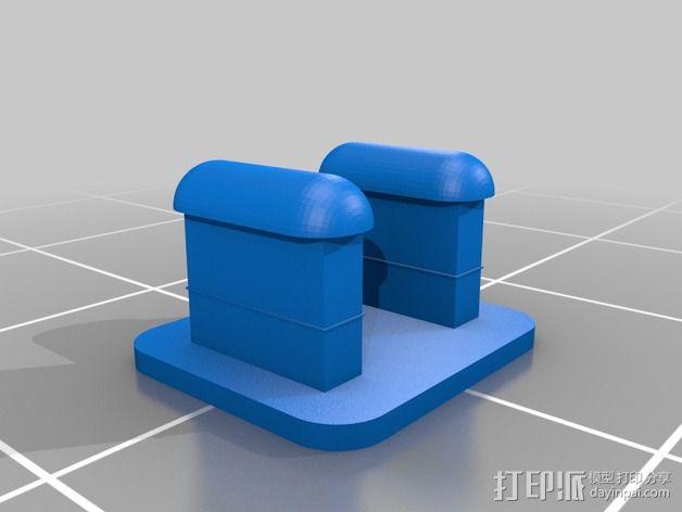 Fit Bit腕带夹 3D模型  图3