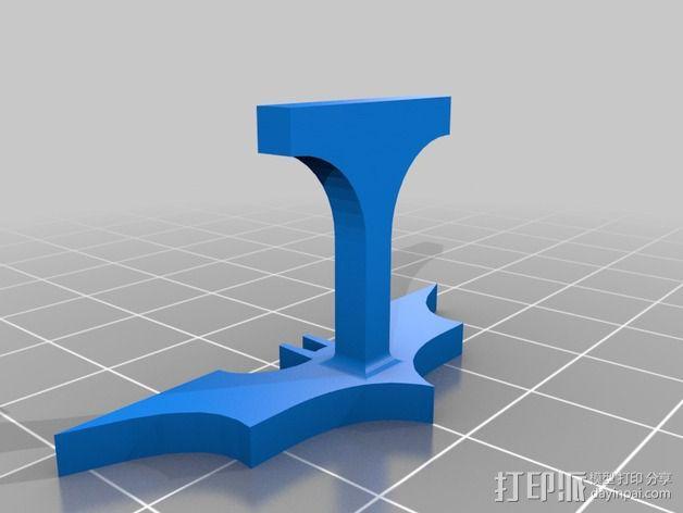 蝙蝠侠袖扣 3D模型  图2