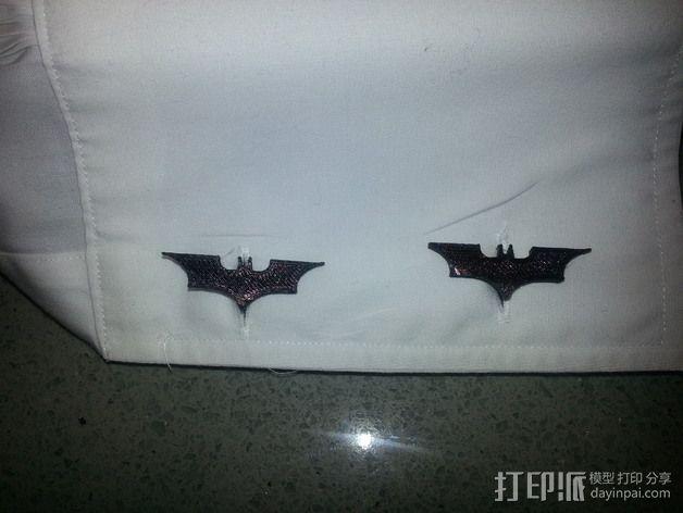 蝙蝠侠袖扣 3D模型  图1