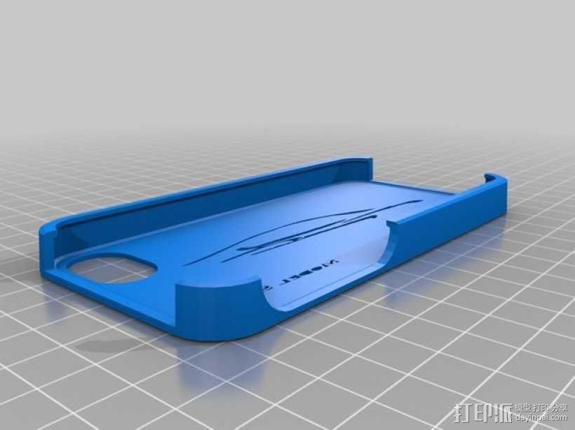 Tesla汽车iphone 手机壳 3D模型  图1