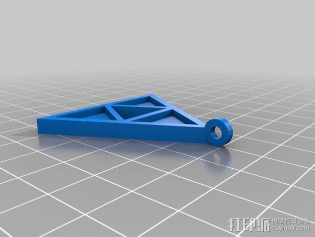 三角神力 项链坠 3D模型  图1