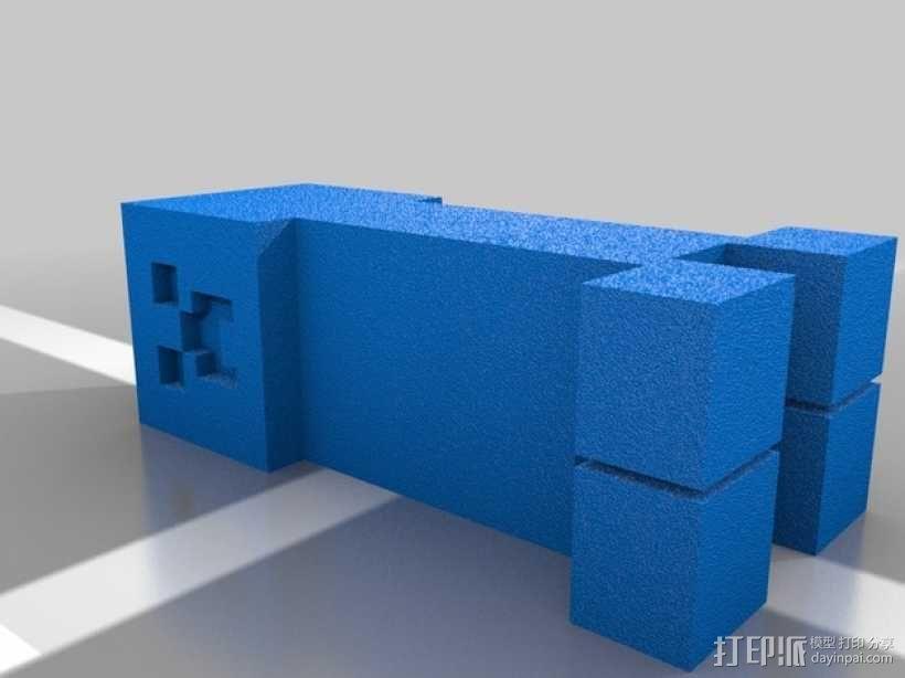 小麦块 钥匙扣 3D模型  图3