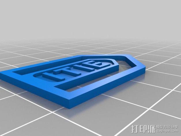 ITIE书签/报纸夹 3D模型  图3