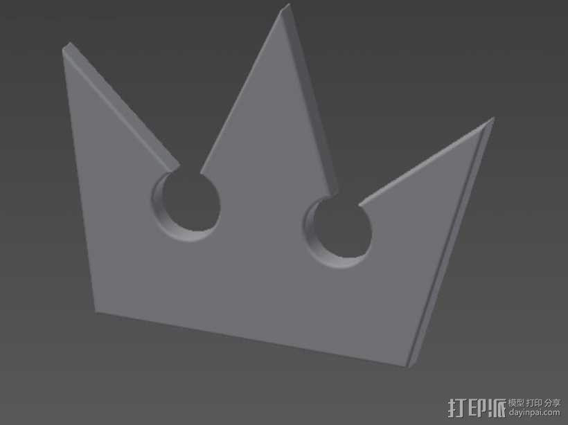 王国之心 皇冠项链坠 3D模型  图1