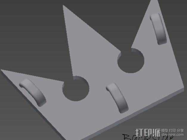 王国之心 皇冠项链坠 3D模型  图3