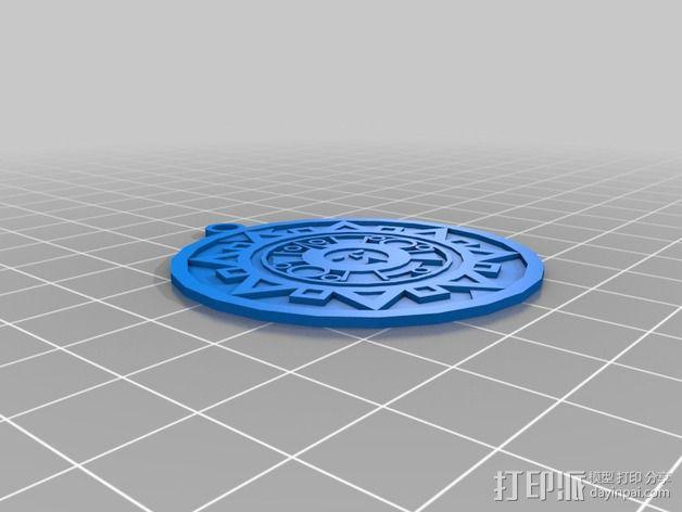 太阳石 坠饰 3D模型  图3