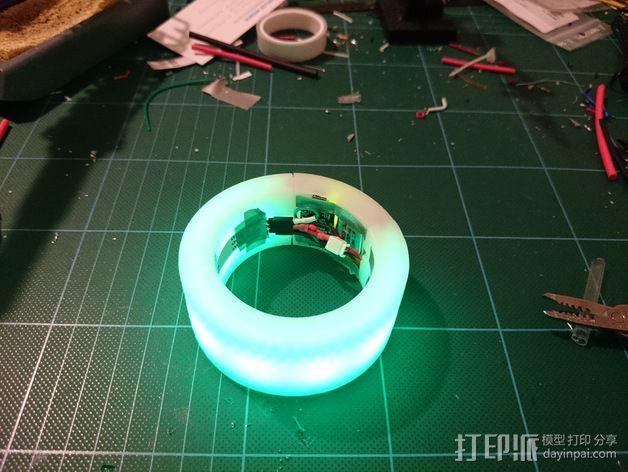 LED发光手镯 3D模型  图1