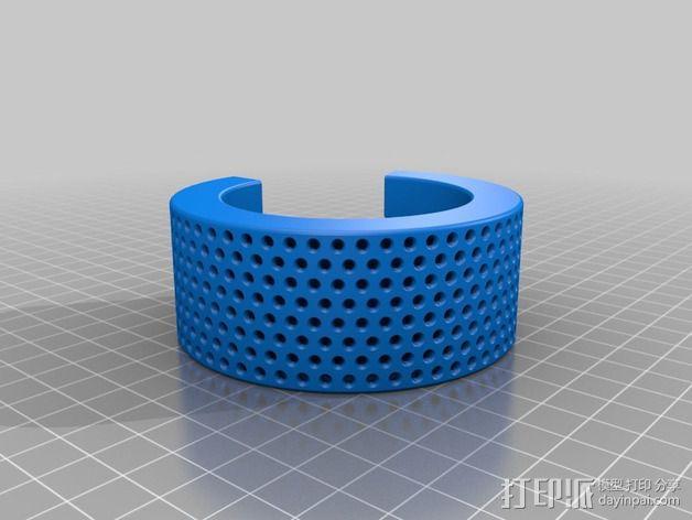 LED发光手镯 3D模型  图2