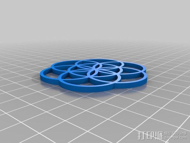 生命之花 项链坠 3D模型  图3