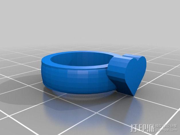 桃心戒指 3D模型  图2