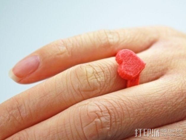 桃心戒指 3D模型  图3