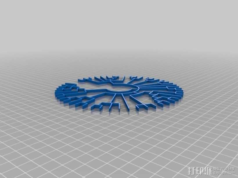 系谱树吊坠 3D模型  图4