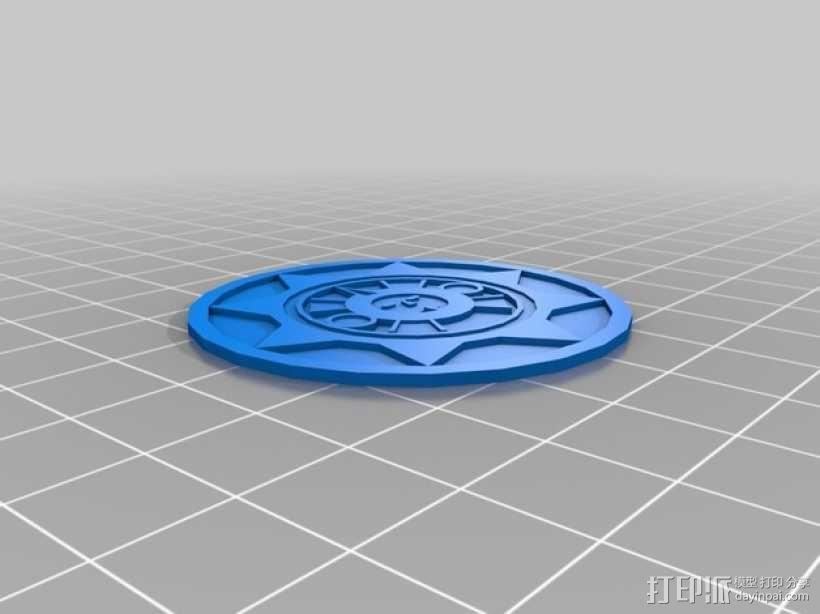 Aztec 阿兹特克人太阳石挂件 3D模型  图2