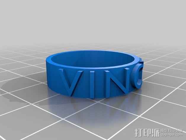 婚礼戒指 3D模型  图3