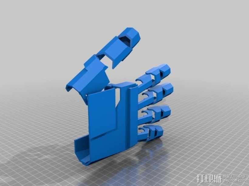 铠甲手套 3D模型  图1