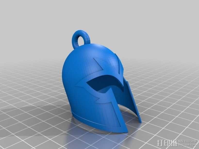 万磁王头盔 钥匙扣 3D模型  图1