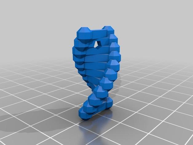DNA 耳环 3D模型  图2