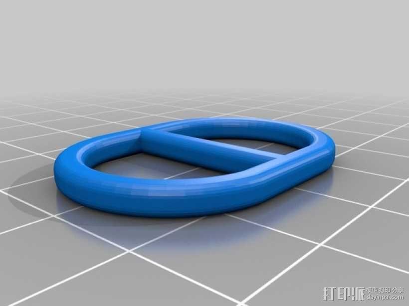 围巾环 3D模型  图1
