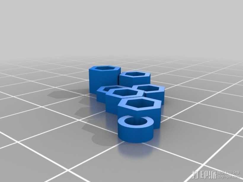 多边形耳环 3D模型  图2