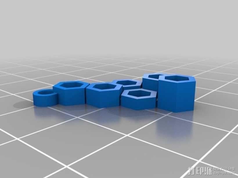 多边形耳环 3D模型  图3