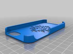 锦缎花纹Iphone4手机套 3D模型