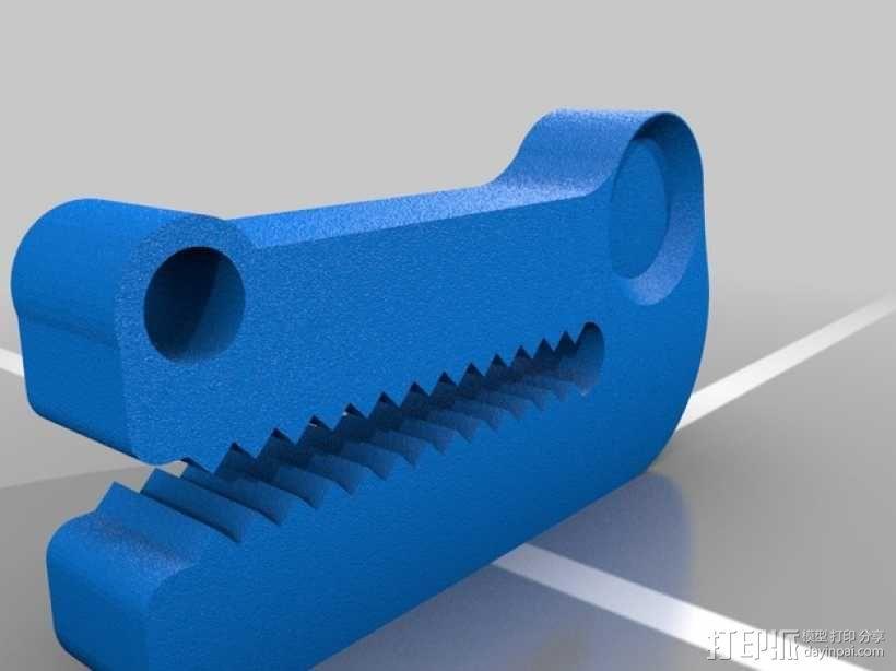 鳄鱼头挂钩 3D模型  图1