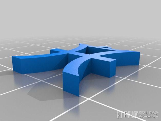 塞尔达传说 耳环坠 3D模型  图4