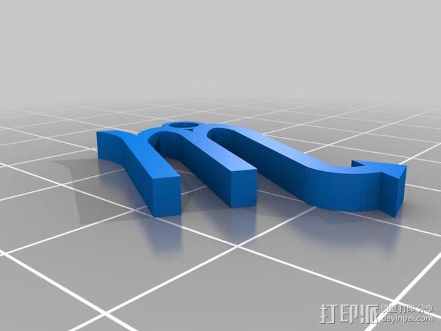 塞尔达传说 耳环坠 3D模型  图5