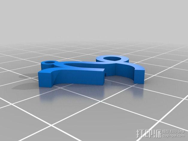 塞尔达传说 耳环坠 3D模型  图6