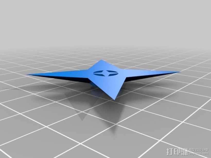 四角星 飞镖 3D模型  图1