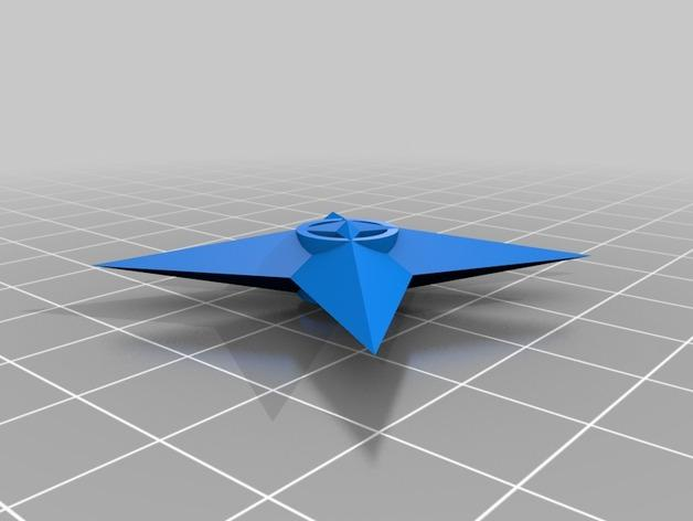 四角星 飞镖 3D模型  图2