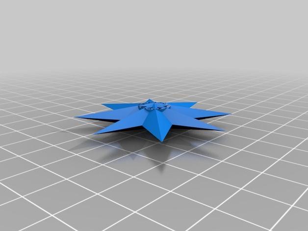 四角星 飞镖 3D模型  图4